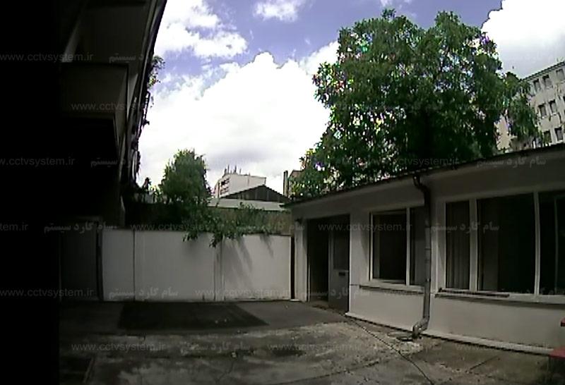 نمونه تصویر دوربین مداربسته آتالوگ لنز متغییر